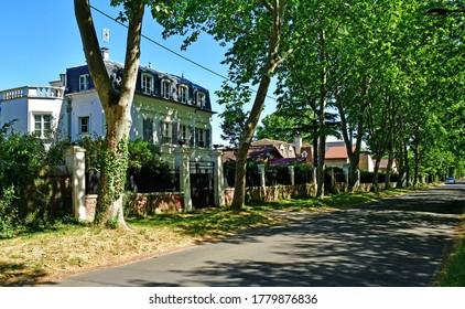 Maisons Laffitte; France - may 30 2020 : the castle district