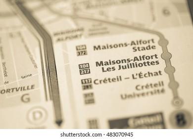 Maisons-Alfort Les Juilliottes Station. 8th Line. Paris. France