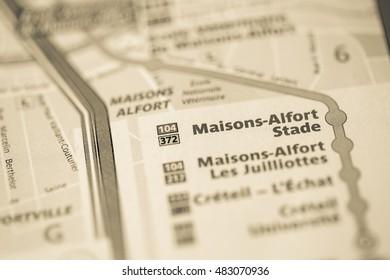 Maisons-Alfort Stade Station. 8th Line. Paris. France