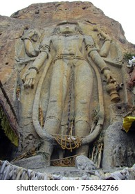 Maitrey the future Buddha carving on a huge rock on Kargil Leh road. India