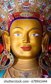 Maitreya Buddha in Thiksey Monastery, Leh