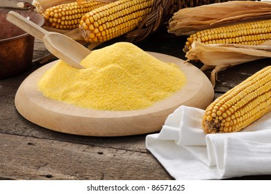 Maize flour with setting