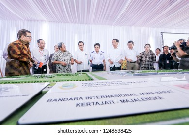 Majalengka, West Java/Indonesia - 14th 01 2016: Indonesian President Jokowi Visiting the Site of New Kertajati International Airport with His Administrations