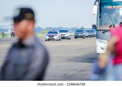 Majalengka, West Java/Indonesia - 14th 01 2016: Indonesian President Jokowi Visiting the Site of New Kertajati International Airport in Presidential Limousine