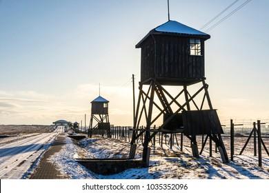 Majdanek concentration camp in Lublin, Poland