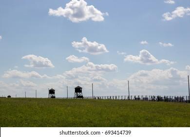MAJDANEK, LUBLIN, POLAND -  Majdanek concentration camp on the outskirts of Lublin