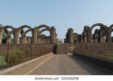 Majestic arches of a tomb Bars Kaman in the city of Bidzhapur of the State of Karnataka in India