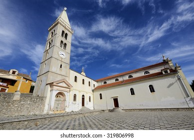 The majestic church of the Annunciation of the Blessed Virgin Mary in Mali Losinj, a popular tourist destination