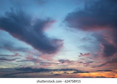 Majestic Cloud Sky after sunset
