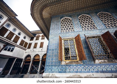 Majestic exterior of famous Topkapi palace in Istanbul, Turkey