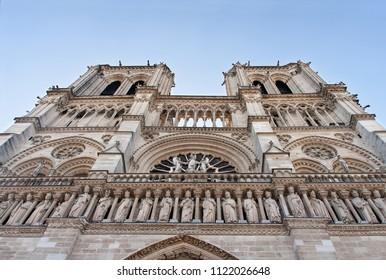 majestic facade of notre dame in paris
