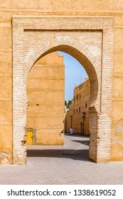Majestic gate in the Medina of Marrakech, Morocco