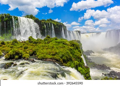 The majestic Iguazu Falls, one of the wonders of the world