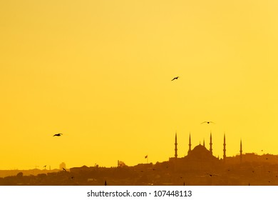 Majestic Mosque at Sunset in the Middle East