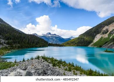 Majestic mountain lake in Canada