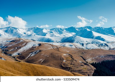 Majestic mountain landscapes of the Kazakhstan reserve near Almaty city