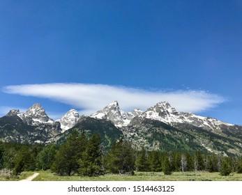 Majestic Mountain Range in Grand Teton National Park, Wyoming