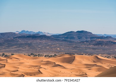 majestic mountains in the desert