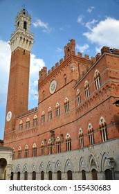 Majestic Palazzo Pubblico on Piazza del Campo in Siena, Tuscany, Italy