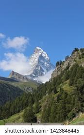 The majestic peak of the Matterhorn, Switzerland