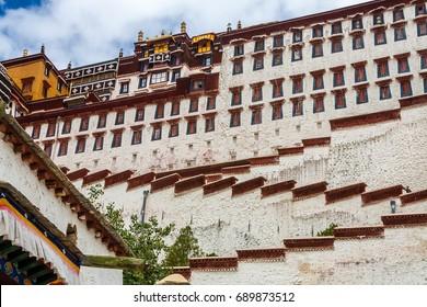 Majestic Potala Palace during spring in Lhasa, Nepal, Tibet, China