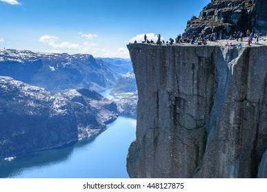 Majestic Preikestolen over Lysefjorden, Stavanger, Norway