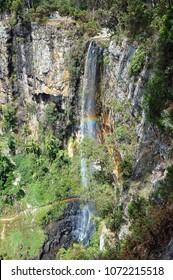 The majestic Purling Brook Falls in the Gondwana Rainforests - Springbrook, Queensland, Australia