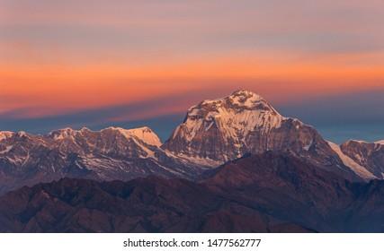Majestic snow capper Dhaulagiri during sunrise
