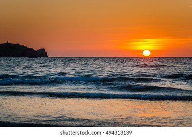 Majestic Sunset over the Ocean in Newquay, Cornwall, UK