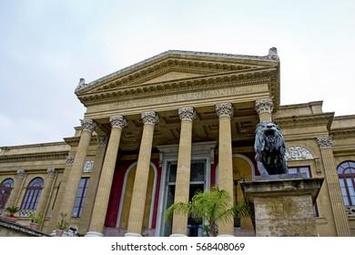 Majestic theater Massimo of Palermo, Sicily