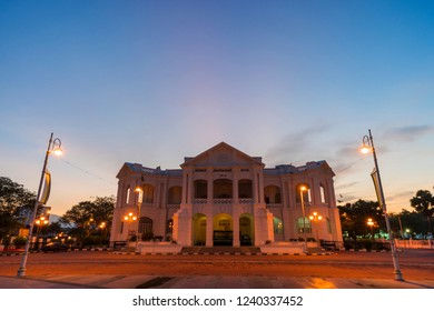 Majestic  townhall during sunrise. Ipoh Townhall  is one of heritage side of unesco. soft focus,blur due to long exposure.