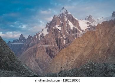 Majestic Trango Towers in Karakoram Mountain Range, Pakistan.