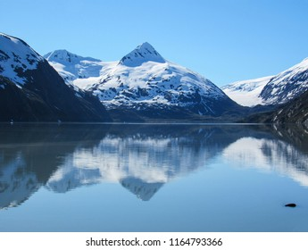 Majestic view of mountains in College Fjord, Alaska