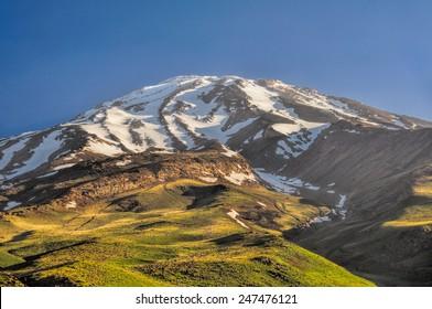 Majestic volcano Damavand, highest peak in Iran