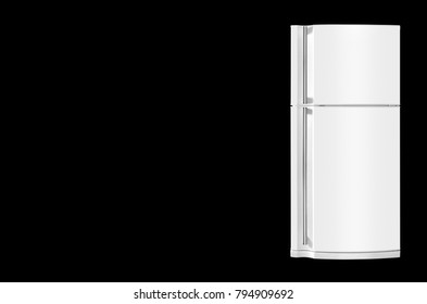 Major appliance - The Refrigerator fridge on a black background. Isolated