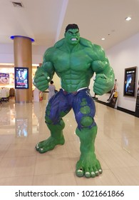 Major Eakkamai Bangkok Thailand, February 10, 2018: The Hulk model at Major Eakkamai bangkok.