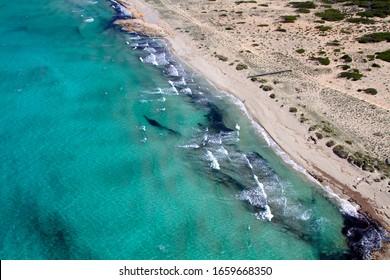 Majorca, Balearic Island, Spain. April 23 2014: Aerial view of the wonderful coast of the island of Majorca, Spain.