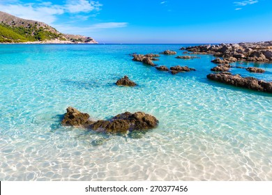 Majorca Cala Agulla beach in Capdepera Mallorca at Balearic Islands of Spain