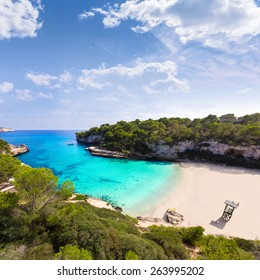 Majorca Cala Llombards Santanyi beach in Mallorca Balearic Island of Spain