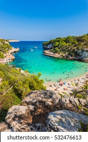 Majorca Cala Llombards Santanyi beach in Mallorca, Balearic Islands of Spain, Mediterranean Sea.