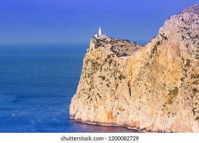 Majorca Mallorca landscape nature Mediterranean Sea copyspace Spain Cap Formentor copy space