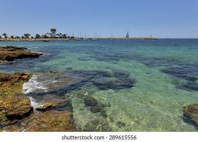 Majorca, Spain,  beach Platja de Palma Llucmajor in mallorca Balearic Islands