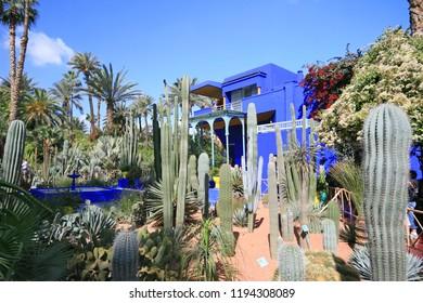 Majorrele Gardens, Marrakech, Morocco, Africa