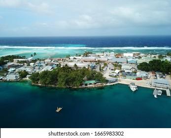 Majuro atoll and city in Marshall islands