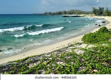 Makalawena beach at Puu Alii Bay Beach, near Kekaha Kai Beach Park, Big Island, Hawaii