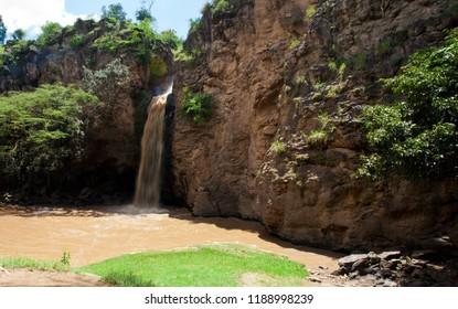 Makalia Falls in Lake Nakuru National Park, Kenya