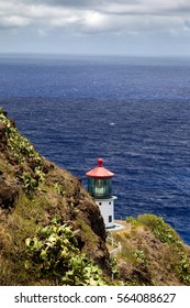 Makapuu Point Lighthouse on the east coast of Oahu, Hawaii, USA.