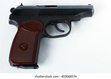Makarov pistol. Isolated on a white background.