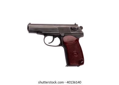 makarov system pistol isolated on white background