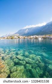 Makarska, Dalmatia, Croatia, Europe - Clear water of the Mediterranean Sea at Makarska